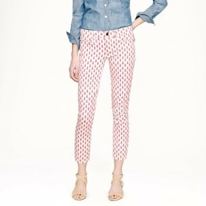 J. Crew Cropped Matchstick Jeans   Floral Print 24